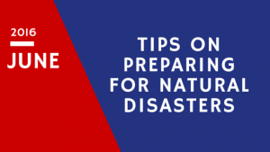 Natural Disaster Preparation